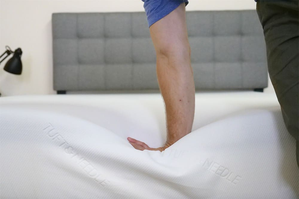 Tuft-Needle-Mattress-Hand-Press Tuft & Needle Mattress Review