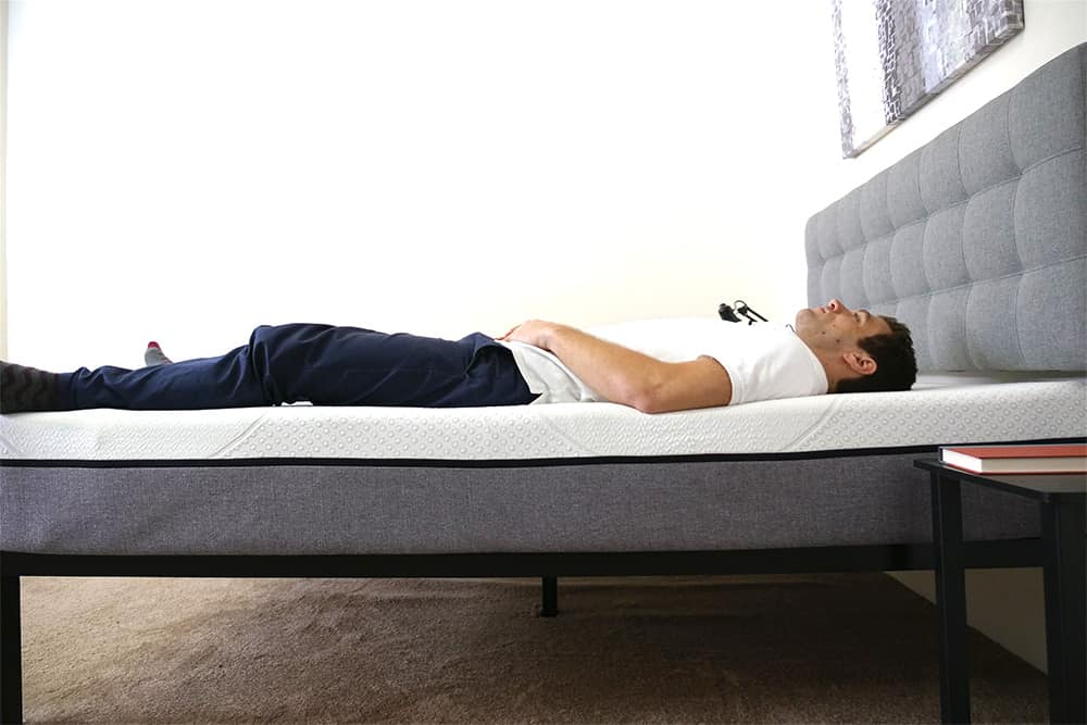 Yogabed-Mattress-Review-Laying Yogabed Mattress Review