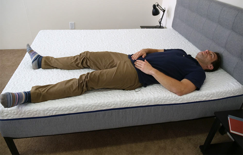 NovosbedMattressLayingOnEdge Novosbed Mattress Review