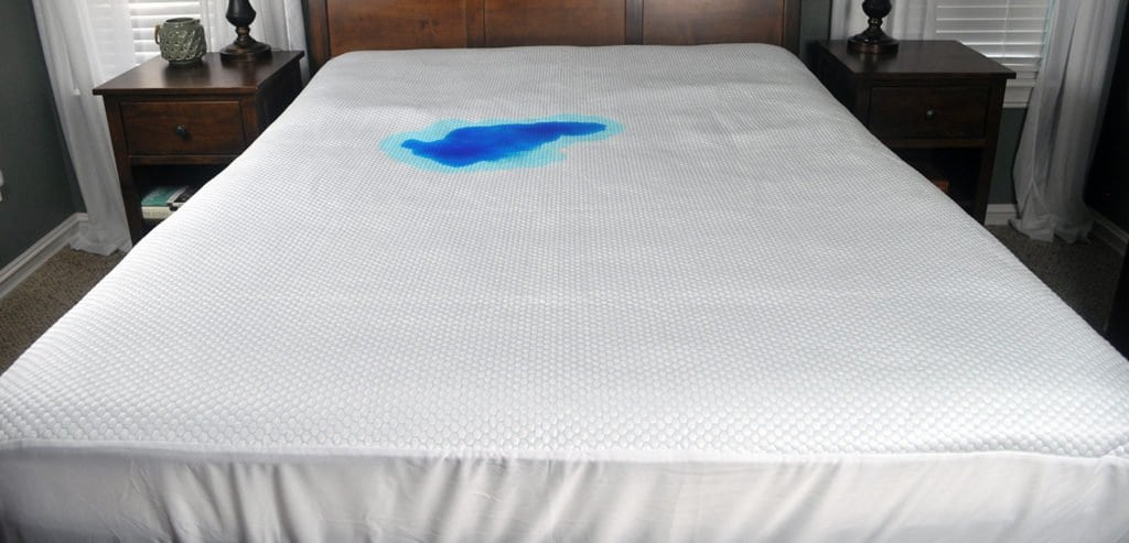nest-bedding-cooling-mattress-protector-2-minute-spill-1024x493 Nest Bedding Cooling Mattress Protector Review