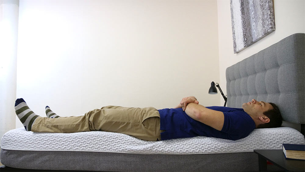 Endy-Edge-Support-Laying Endy Mattress Review