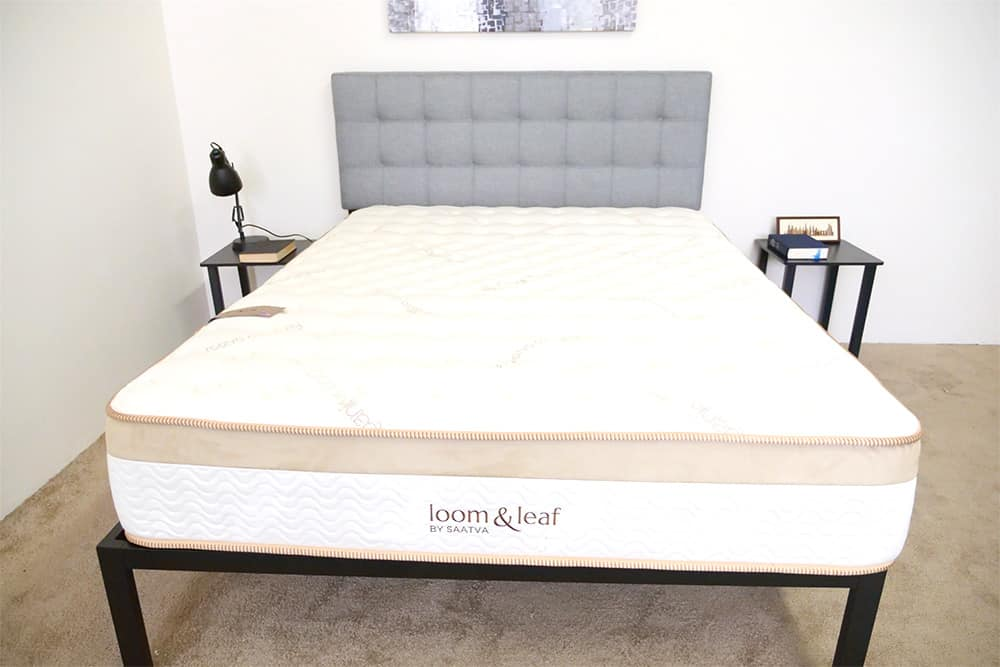 Loom-and-Leaf-Front-View Saatva vs. Loom & Leaf vs. Zenhaven Mattress Review