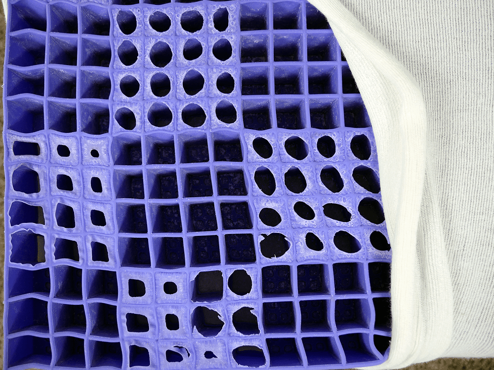 Purple-Grid-Structure Best Mattress for Stomach Sleepers