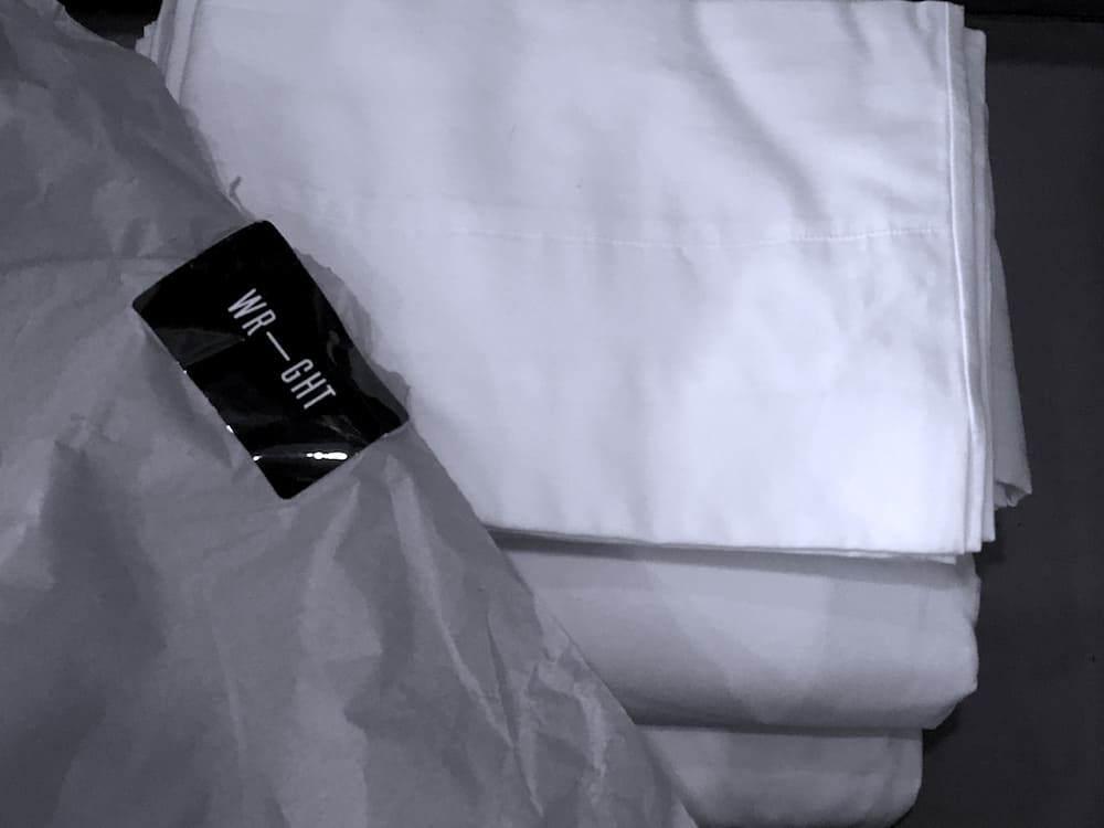 Wright-Unboxing-with-Branding Wright Bedding American Cotton Sheet Set Review