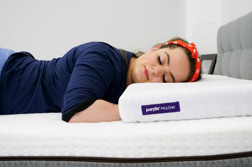 Lying-on-the-Purple-Pillow Purple Pillow Review