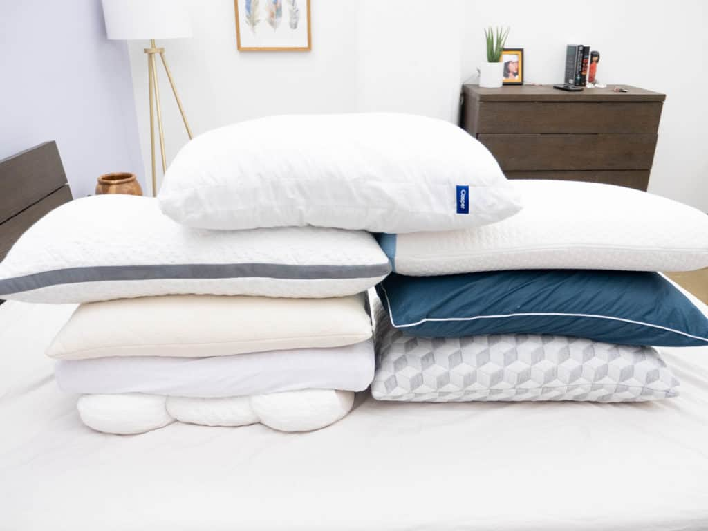 Side-Sleeper-Pillow-Stack-1024x768 Best Pillows for Side Sleepers
