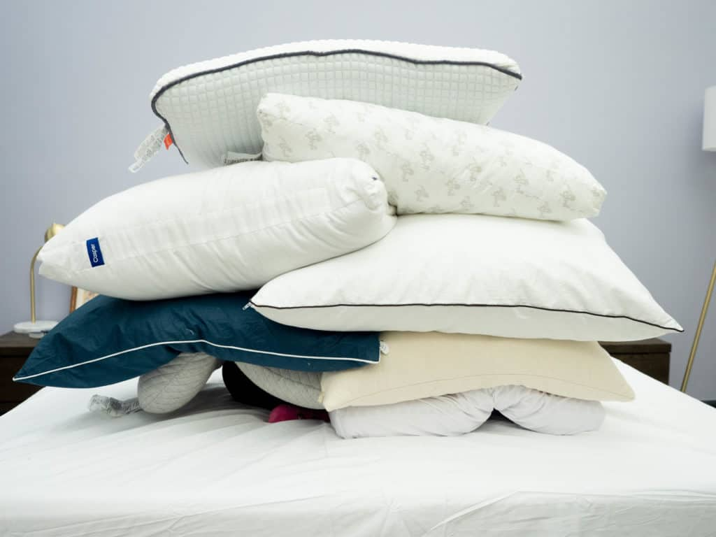 Stomach-Sleeper-Pillow-Stack-1-1024x768 Best Pillows for Stomach Sleepers