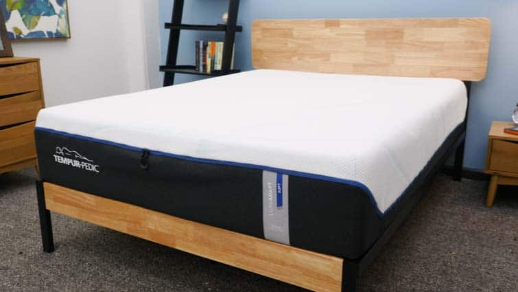 Tempurpedic LuxeAdapt on bed frame